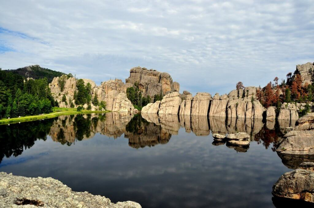 The Best Things to Do in the Black Hills with your Family featured by top US family travel blog, Travel with a Plan: image of Custer state park rocks in Black Hills itinerary