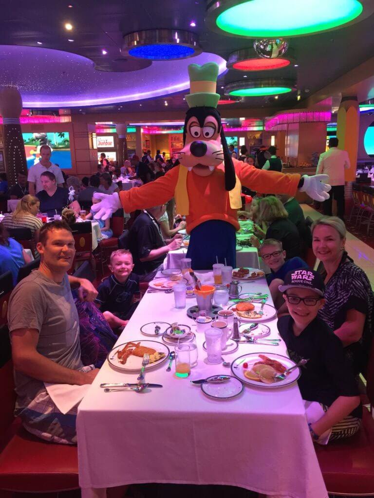 Disney Cruise-Goofy at breakfast