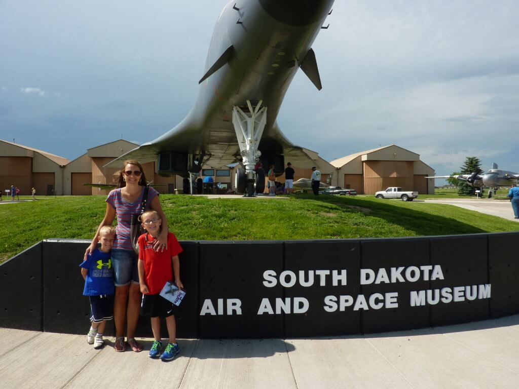 The Best Things to Do in the Black Hills with your Family featured by top US family travel blog, Travel with a Plan: image of air space museum