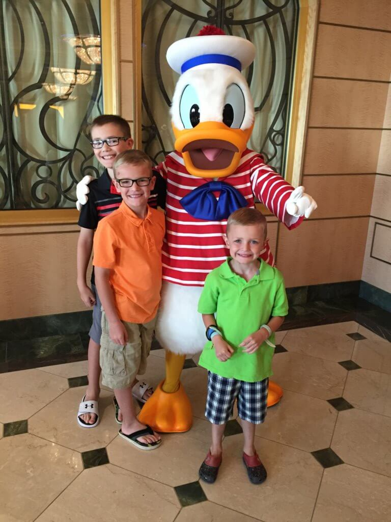 Kids and Donald Duck