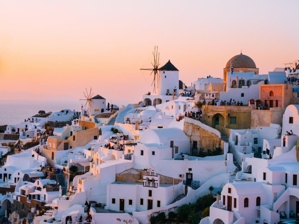 Santorini travel hacking destination