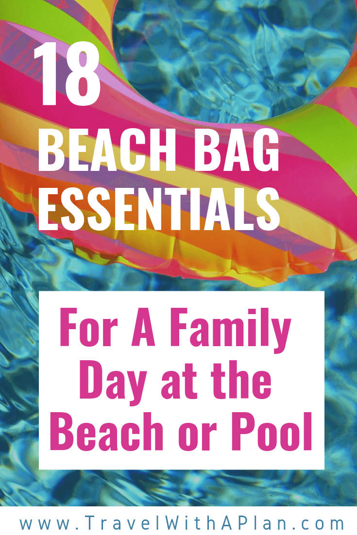 Pinterest pin: Family Beach Bag Tips and things to bring to the beach