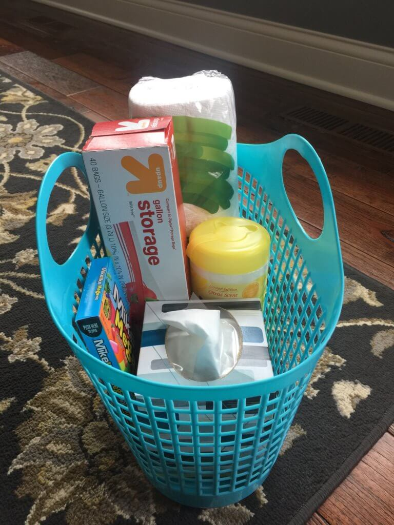 Family road trip tips featured by top US family travel blog, Travel with a Plan: image of Road trip sick bag essentials
