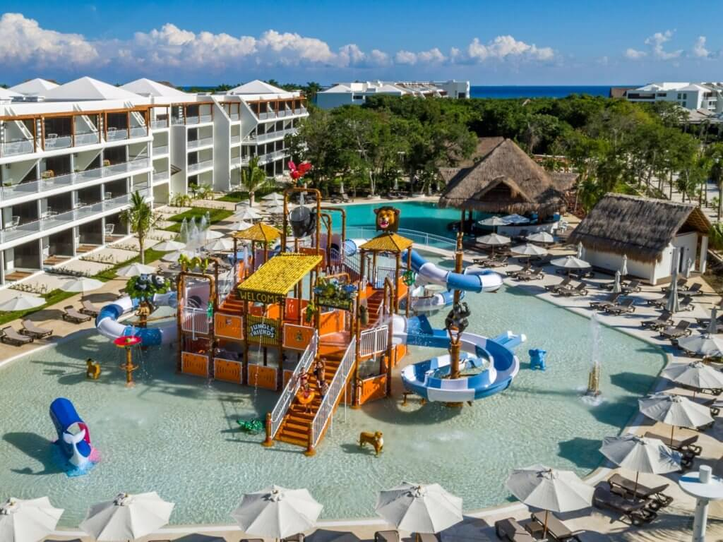 Top U.S. Travel Blog   Travel With A Plan: Ocean Riviera Paradise Review of water park with slides and sprayers