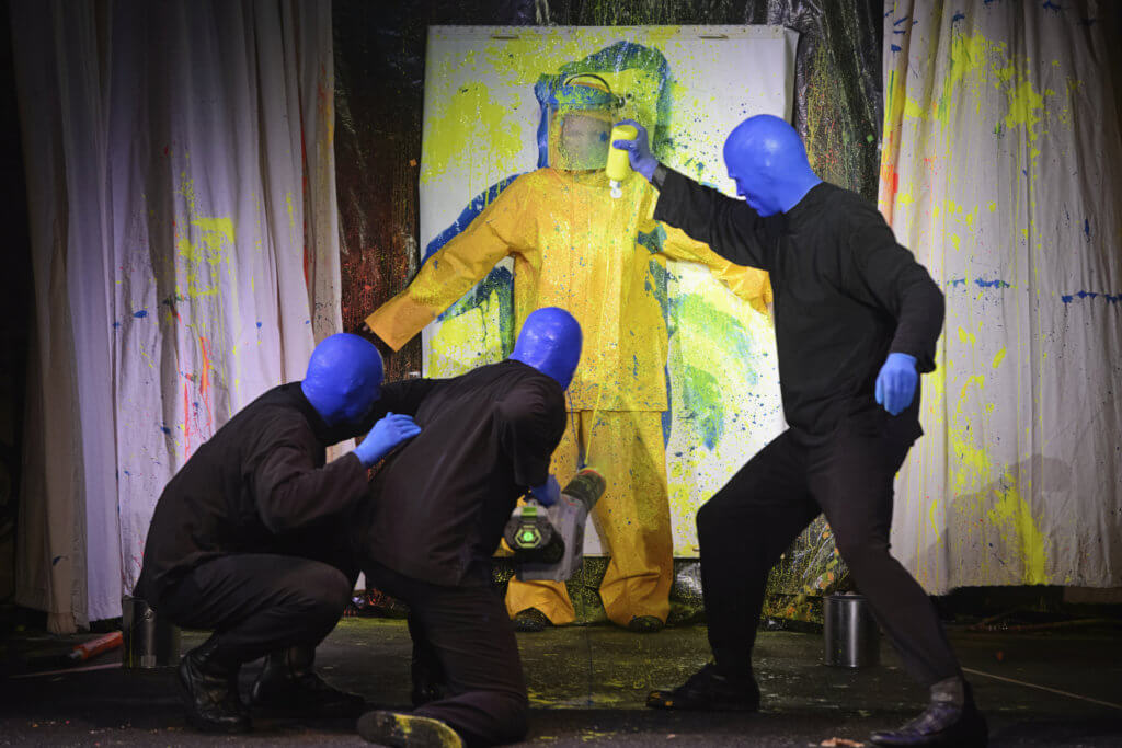 Chicago 3 day itinerary featured by top US family travel blog, Travel with a Plan: image of  Blue Man Group