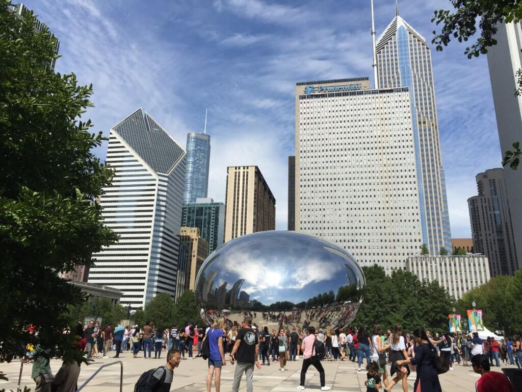 Chicago 3 day itinerary featured by top US family travel blog, Travel with a Plan: image of The Bean