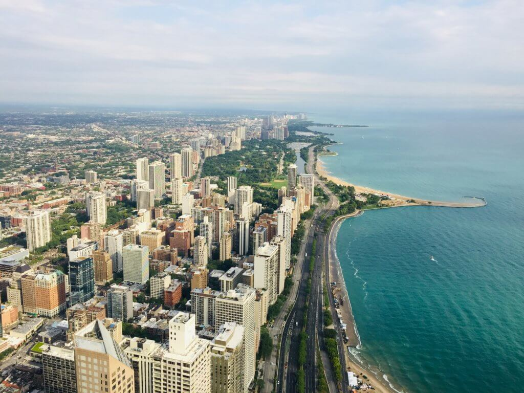 Chicago 3 day itinerary featured by top US family travel blog, Travel with a Plan: image of 360 Chicago