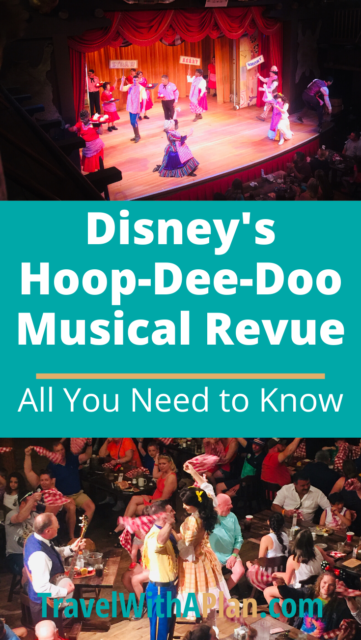 Click here to discover a complete Hoop Dee Doo Revue review from Top U.S. family travel blog, Travel With A Plan!  #HoopDeeDoomenu #HoopDeeDooseatingchart #HoopDeeDooRevueseatingchart #howlongisHoopDeeDoo #HoopDeeDooreservations #HoopDeeDoomusicalrevue #HoopDeeDoomusicalrevuereviews