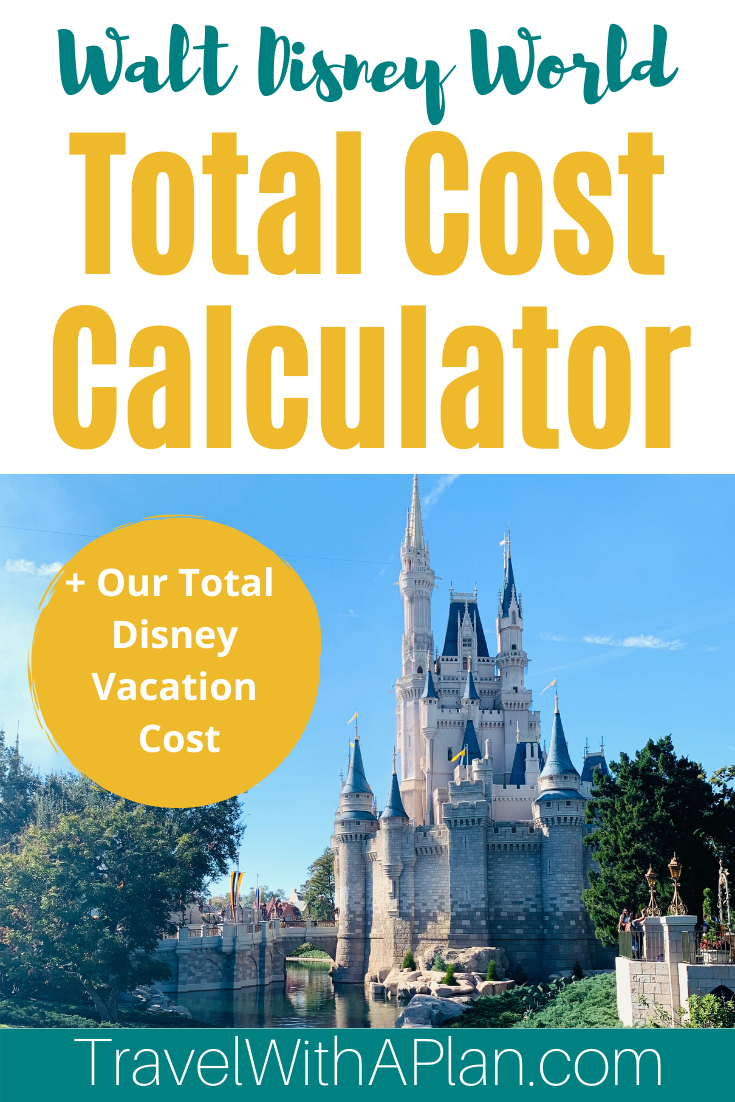 Many variables effect how much a Disney Vacation will cost.  Our Disney World cost calculator will help you determine what to consider when adding up the cost of your Disney vacation!  PLUS, we give you an exact breakdown of the total cost of our recent Disney World Vacation!  #Disneycostcalculator #howmuchdoesDisneycost #Disneyworldonabudget #DisneyWorldcostcalculator
