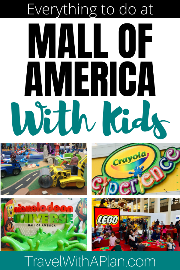 Find out absolutely everything that there is to do at World famous Mall of America with kids!  This mega shopping mall and indoor theme park combo is a mecca for family entertainment!  Every kid-friendly activity is listed here!  #mallofamericaattractions #thingstodoatthemallofamericawithkids #mallofamericarides #nickelodeonuniverse #bestthingstodoatmallofamerica #mallofamericathemepark