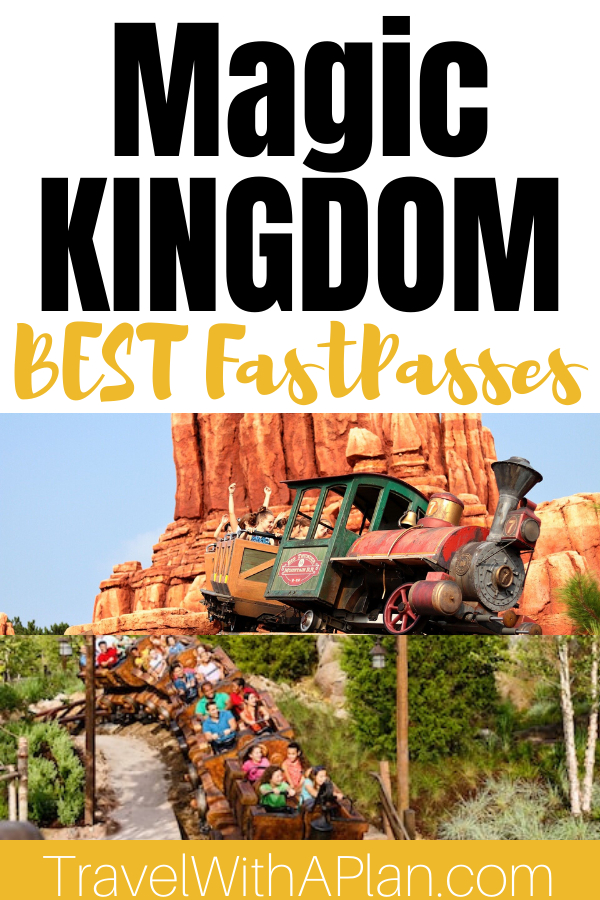 Get our awesome tips and secrets for booking the best rides to Fastpass at Magic Kingdom!  Our Magic Kingdom Fastpass strategy includes a back-up plan for when your favorites aren't available, and how to adapt your plan when you're visiting with toddlers.  #MagicKingdomFastpass #bestridestoFastpassatMagicKingdom #MagicKingdomFastpasstips #MagicKingdomrides #MagicKingdombestFastpasses