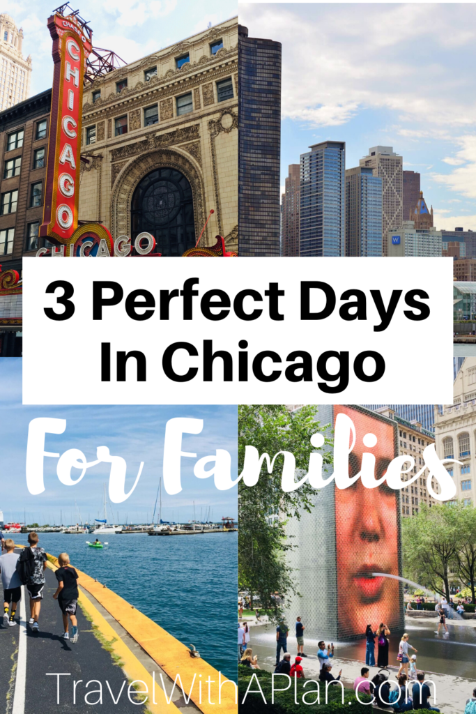 Click here for our detailed 3-day Chicago itinerary that is perfect for families!  We walk you through where to stay, where to eat, a what to do during your 3 days in Chicago!  #Chicagowithkids #3daysinChicago #3dayChicagoitinerary #Chicagofamilyvacation #3daysinChicagowithkids #whatodoinChicagowithkids