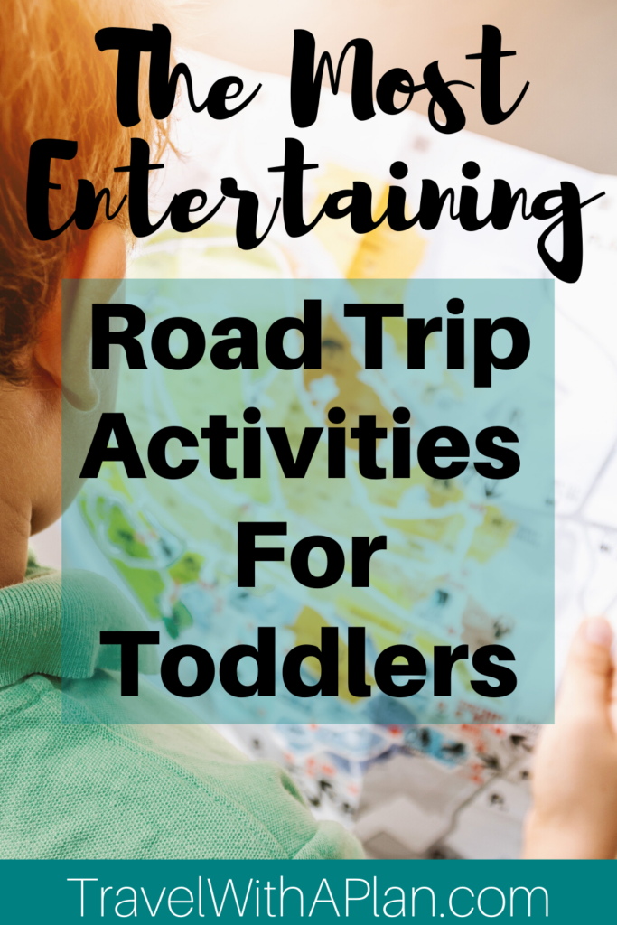 Discoverr all of the fun and unique ways to keep your toddlers entertained while on a family road trip!  Our featured road trip activities for toddlers include independent play, books and electronics, snacks, and activities that include parent involvement!  Click here now for the answers you've been looking for!  #roadtripactivitiesfortoddlers #familyroadtrip #familyroadtripactivities #toddlerroadtripactivities