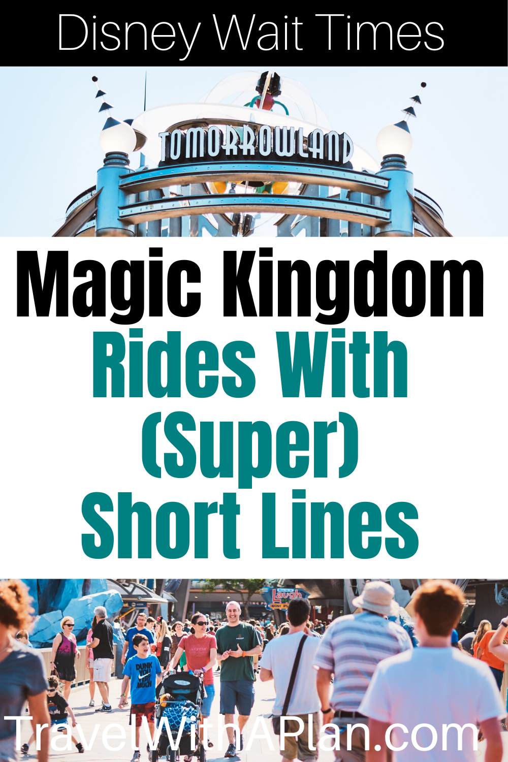 Magic Kingdom wait times make a huge impact on tour touring plan!  Learn all about the exact amount of time to expect when waiting in line for Magic Kingdom's most popular rides.  We feature 6 rides with the shortest lines, and 6 ride with the longest lines at Magic Kingdom!  #Disneywaittimes #MagicKingdomwaittimes #longestwaittimesatmagickingdom #shortestlinesatmagickingdom #averagewaittimesmagickingdom