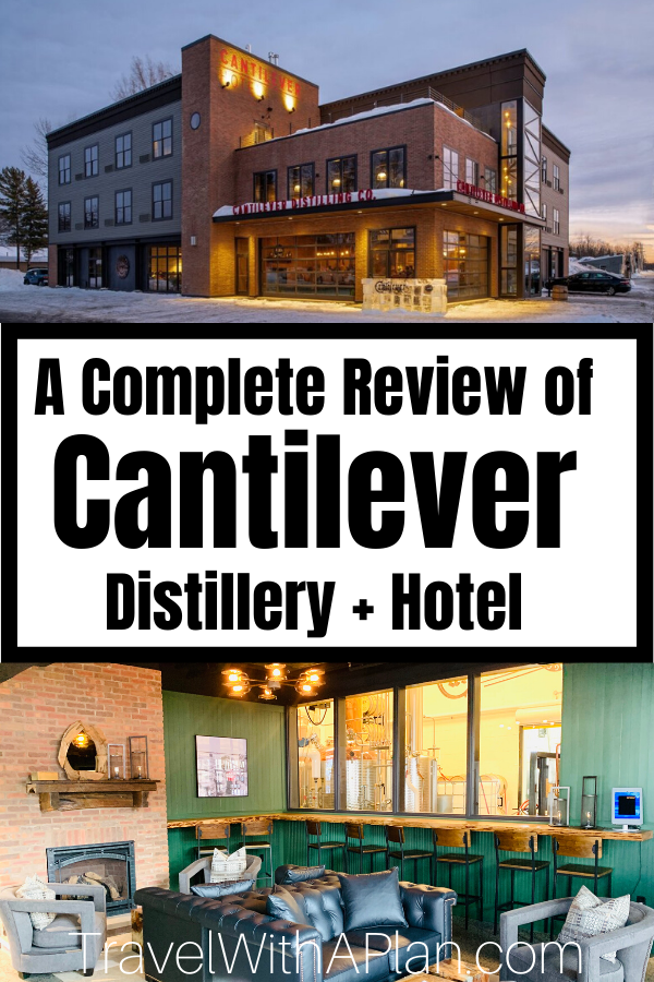 Top U.S. family travel blog Travel With A Plan details their stay at the newest Rainy Lake lodging option that is steps away from Rainy Lake and minutes away from Voyageurs National Park!   Find out all you need to know about Cantilever Distillery +Hotel. #voyageursnationalpark #voyageursnationalparklodging #rainylakelodging #rainylakehotels #cantileverdistillery #cantileverhotel #ranierMN #placestostayonRainyLake