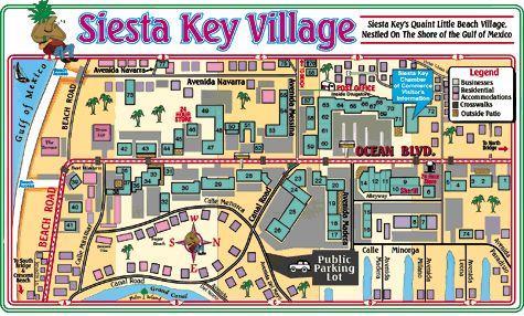 Siesta Key Village map
