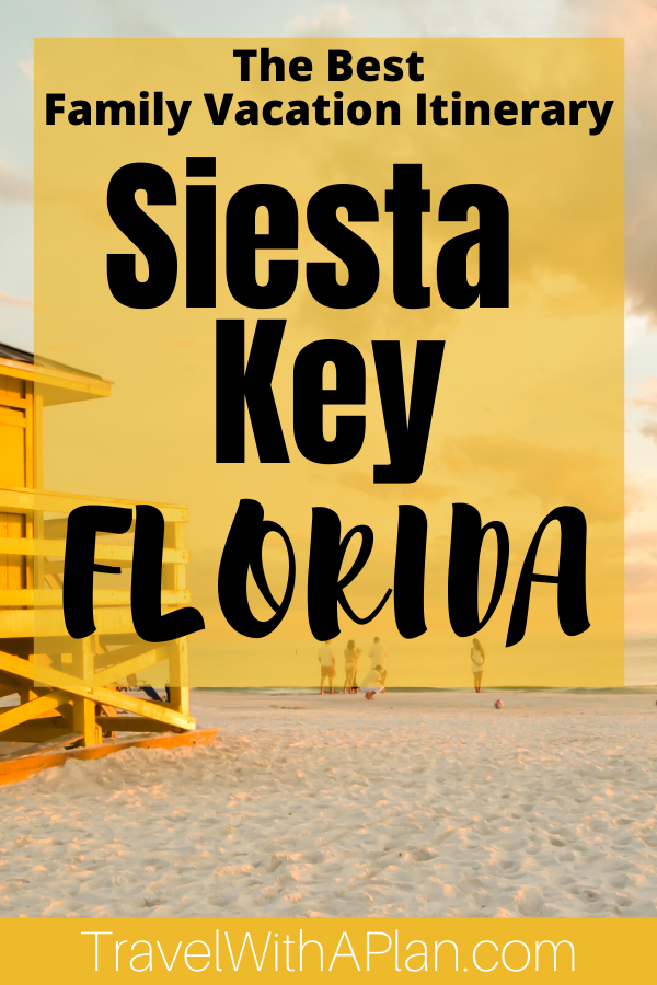 ead this article to get a detailed day-to-day itinerary for a Siesta Key family vacation!  Find out where to stay, where to eat, what to do, and how to get around during your Siesta Key getaway from top U.S. family travel blog, Travel With A Plan!  #floridatravel #whattodoinflorida #siestakeyfamilyvacation #siestakeybeachvacation #siestakeyfloridawithkids