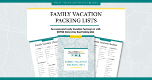 Travel With A Plan packing checklist