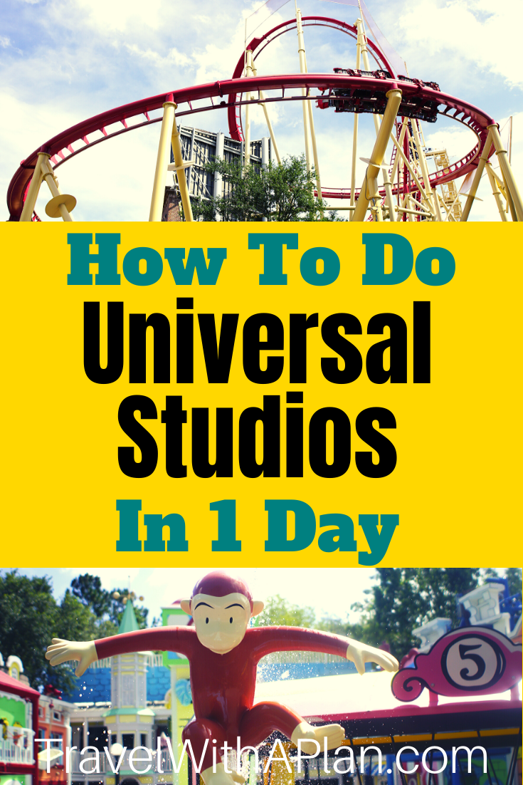 Click here for Top U.S. family travel blog, Travel With A Plan's ultimate 1-Day Universal Studios touring plan!  This one-day itinerary for Universal Studios Florida includes our step-by-step guide on arrival, rope drop, and Express Pass tips, as well as the order to see and do the rides and attractions at Universal Studios. #universalstudiostouringplanorlando #universalstudiostouringplan #universalstudiosvacation #universaltips #harrypotteruniversalstudios #universalstudiosorlandowithkids