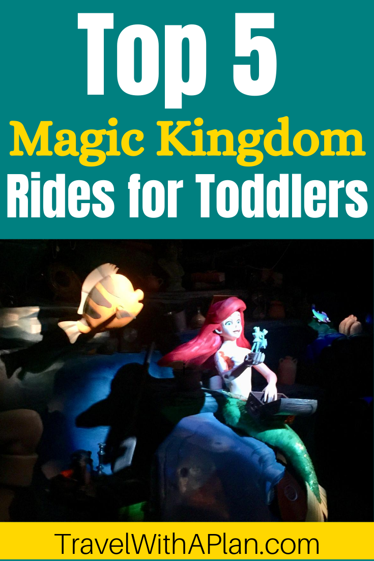 Discover the absolute best Magic Kingdom rides for toddlers!  Having an effective touring plan and ride strategy when traveling to Magic Kingdom with toddlers is essential in order to have a happy day at the park!  Get our great tips for Magic Kingdom in one day with toddlers here!  Disney Planning Tips | Best Rides at Magic Kingdom | Traveling with Toddlers #MagicKingdomwithtoddlers #MagicKingdomridesfortoddlers #MagicKingdomtipstoddlers #MagicKingdominonedaywithtoddlers #MagicKingdomschedulewithtoddlers