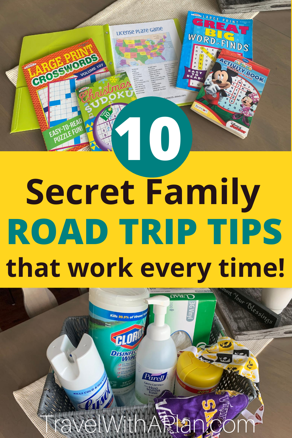 After years of successful family travel, we're sharing our Top 10 Tips for Planning A Family Road Trip!  Get our secret money and sanity saving tips that have allowed us to take successful 24 hour road trips!  #familyroadtriptips #tipsforafamilyroadtrip #familyroadtrip #howtotakeafamilyroadtrip #familytraveltips #roadtripessentials