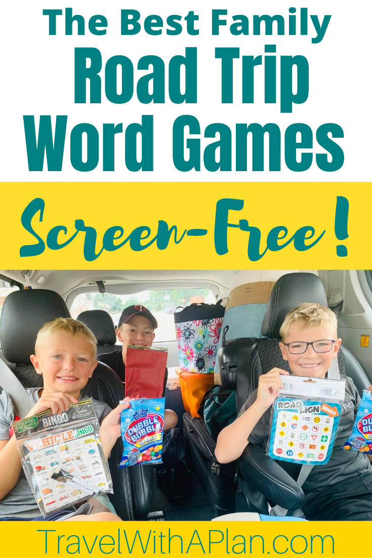 These 13 Road Trip Word Games are a sure hit when it comes to screen-free fun on a family road trip!  Suitable for all ages and abilities, click here for our list and explanations on how to play these epic road trip activities, all of which are free!  Road trip word games | Road trip activities | Things to do in the car | Family road trip | Family Travel | #travelwithaplan #bestroadtripgames #roadtripactivitiesforkids