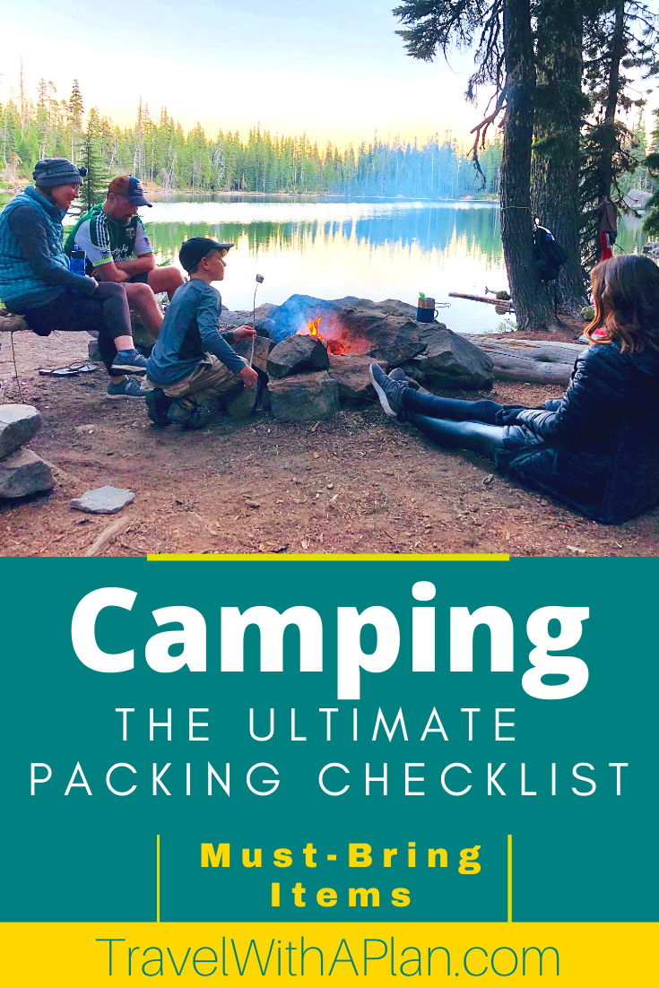Click here for a practical list of absolutely everything you need to bring camping!  When heading to the wilderness, don't forget these items that will help with food, comfort, and safety!  This is a complete family camping packing list!  #camping essentials #packingchecklist #campingprintable #campingpackinglist #itemstobringcamping #outdoortravel #familytravel