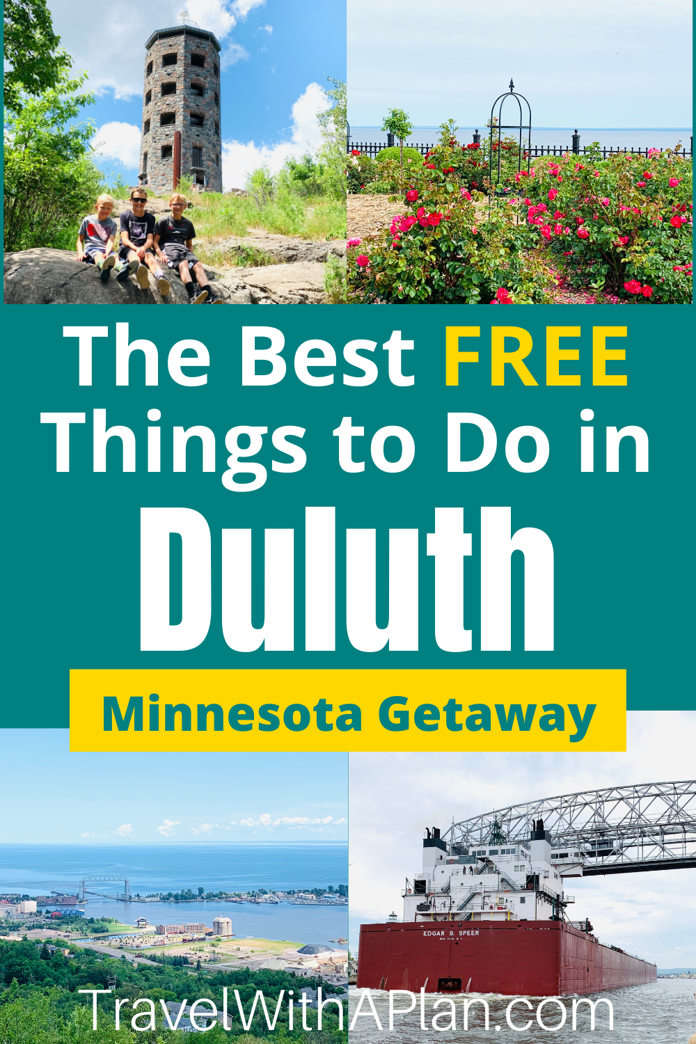 Heading to Duluth, MN for a Midwest getaway?  Find out 11 free things to do in Duluth that you are sure to love!  These awesome family-friendly activities can be enjoyed at no cost to you!  #thingstodoinduluth #duluthactivities #upnorth #northernminnesota #duluth #lakesuperior #canalpark