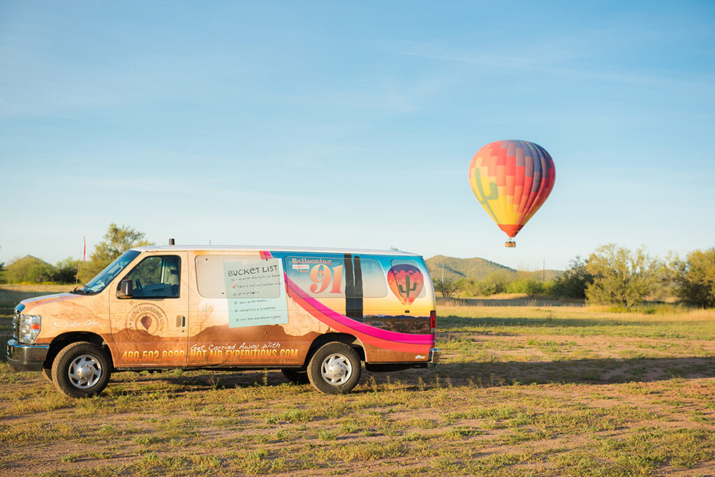 Go on a hot air balloon ride during your Scottsdale girls weekend!