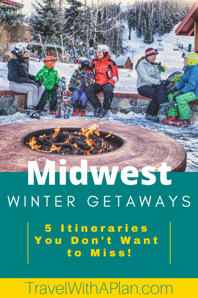 Click here to discover 5 awesome Midwest Winter Weekend Getaways to help beat the winter blues!  Top U.S. travel blogs shares detailed itineraries!  #midwestweekendgetaway #midwestwinterweekendgetaway #affordableweekendgetaways #Midwestwintergetaways #Midwestfamilyweekendgetaways #thingstodointhewinter  #midwestweekendgetaways #daytripsfromchicagoinwinter #travelwithaplan #midwesttravel
