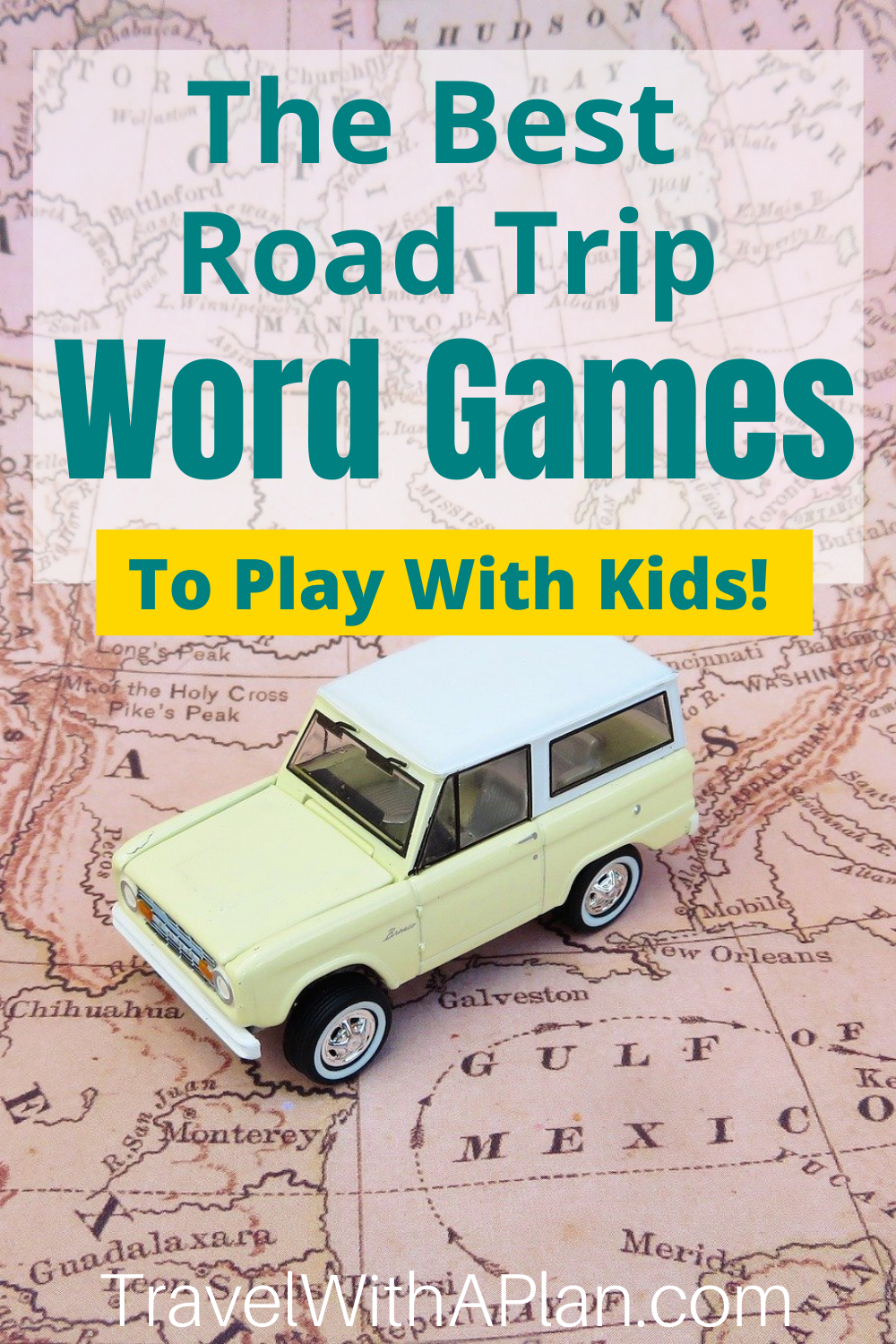 Read here for directions on how to play 13 different & easy word games while driving in the car with kids!  Whether you're on vacation or just out for a Sunday drive, these road trip games create fun and family memories!  Road Trip Activities | Things to do for kids | Family Travel | #roadtriptips #gamesforkids #gamestoplayinthecar #travelgames