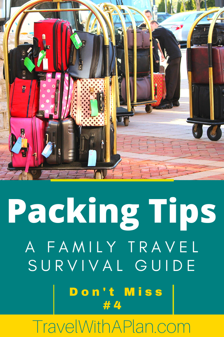 Look no further for the packing solutions you've been waiting for!  Our simple, convenient, and genius family packing tips will help guarantee stress-free family travel!  Click here now!  #packingessentials #familytravel #packingtips #howtopackasuitcase #suitcases #familytraveltips #tipsfortravelingwithkids
