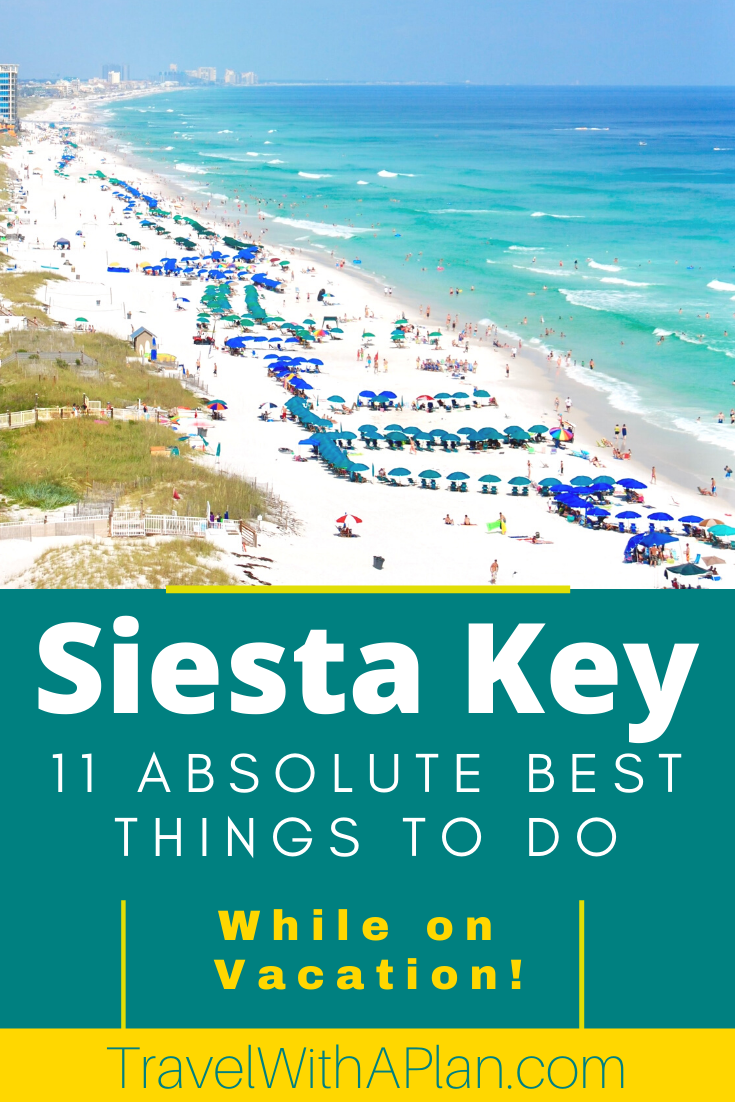 Check out our complete list of the best things to do in Siesta Key, Florida!  Located adjacent to Sarasota, Florida, Siesta Key is home to world famous Siesta Key Beach, and Siesta Key Village.  Click here to begin planning your family vacation!  #SiestaKey #Florida #Bestbeaches #Floridavacation #beachvacations #familytravel #Sarasota