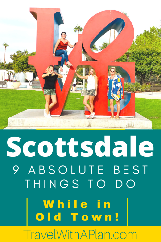 Click here to discover the absolute best things to do in Old Town Scottdale from Top U.S. travel blog, Travel With A Plan!  Find out the best restaurants and what activities to do while visiting Old Town.  #Scottsdale #Arizona #OldTown #OldTownScottsale #ScottsdaleWineTrail #PublicArtwalkingtour #historicaltours #OldTownrestaurants #RustySpurSaloon