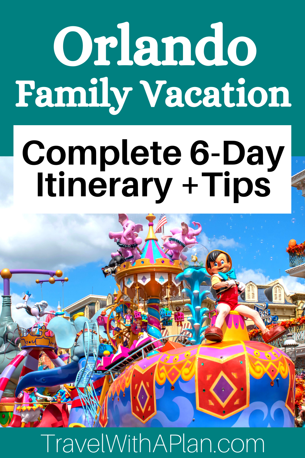 This ultimate guide to visiting Orlando provides a complete 6-day itinerary that includes theme parks and the best Orlando attractions!  Find out where to eat, sleep, and play on the best Orlando family vacation!