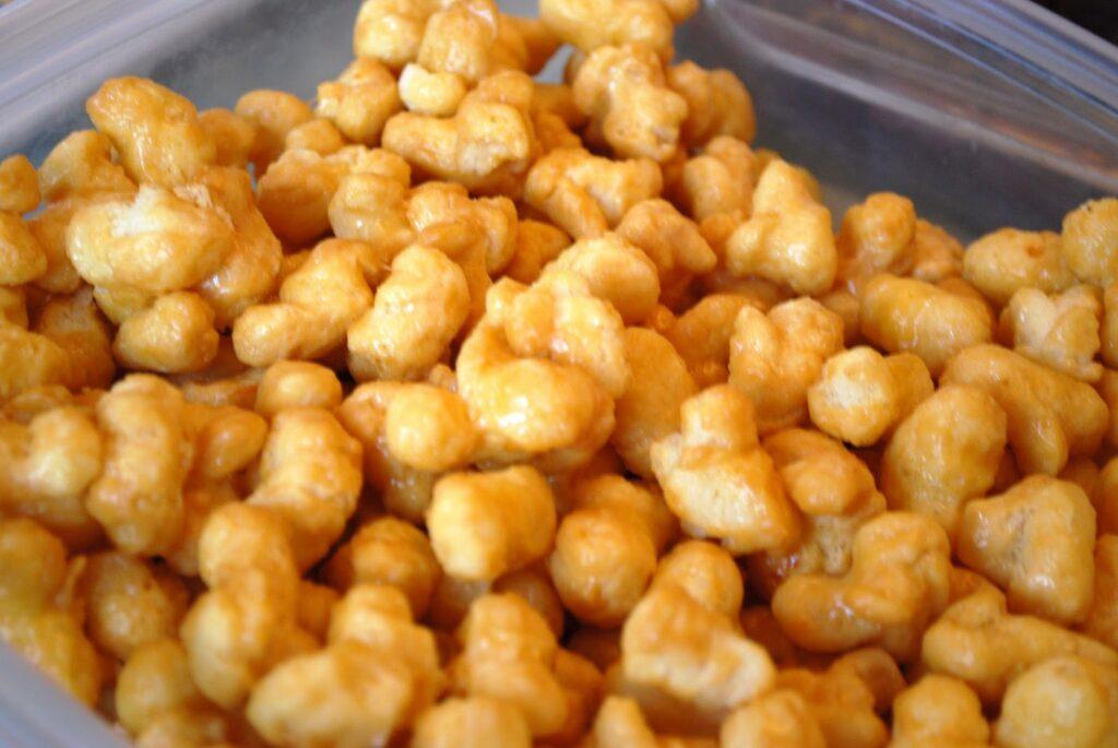 Carmel Puff Corn Snack Mix recipe