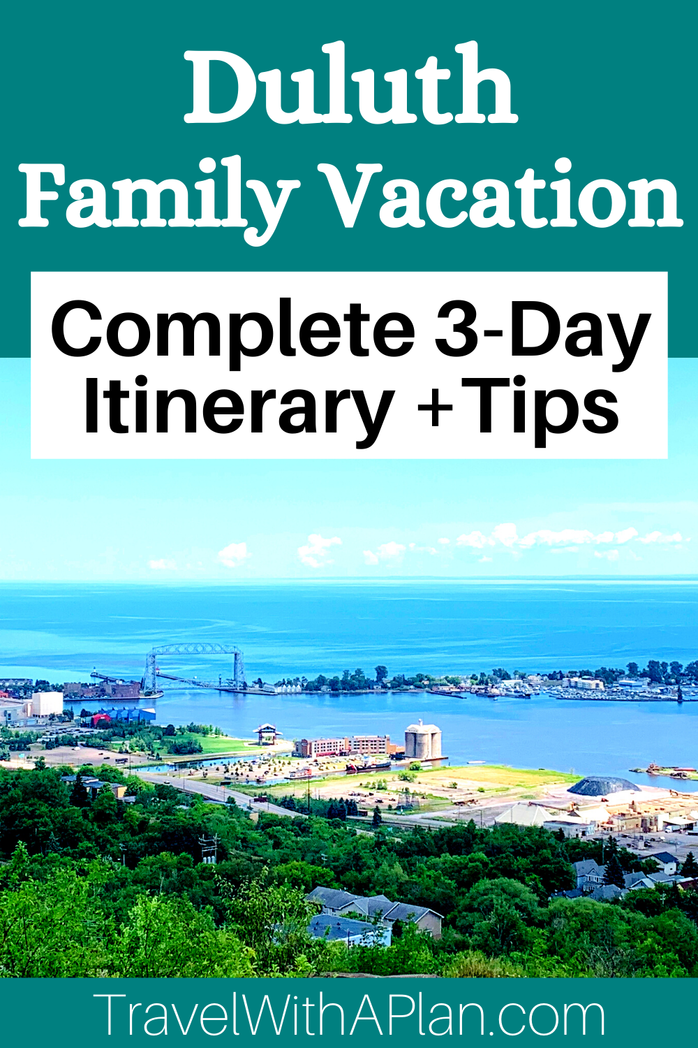 Discover the ultimate Duluth family vacation itinerary from Top US Family Travel Blog, Travel With A Plan!  #Duluth #Minnesota #familytravel