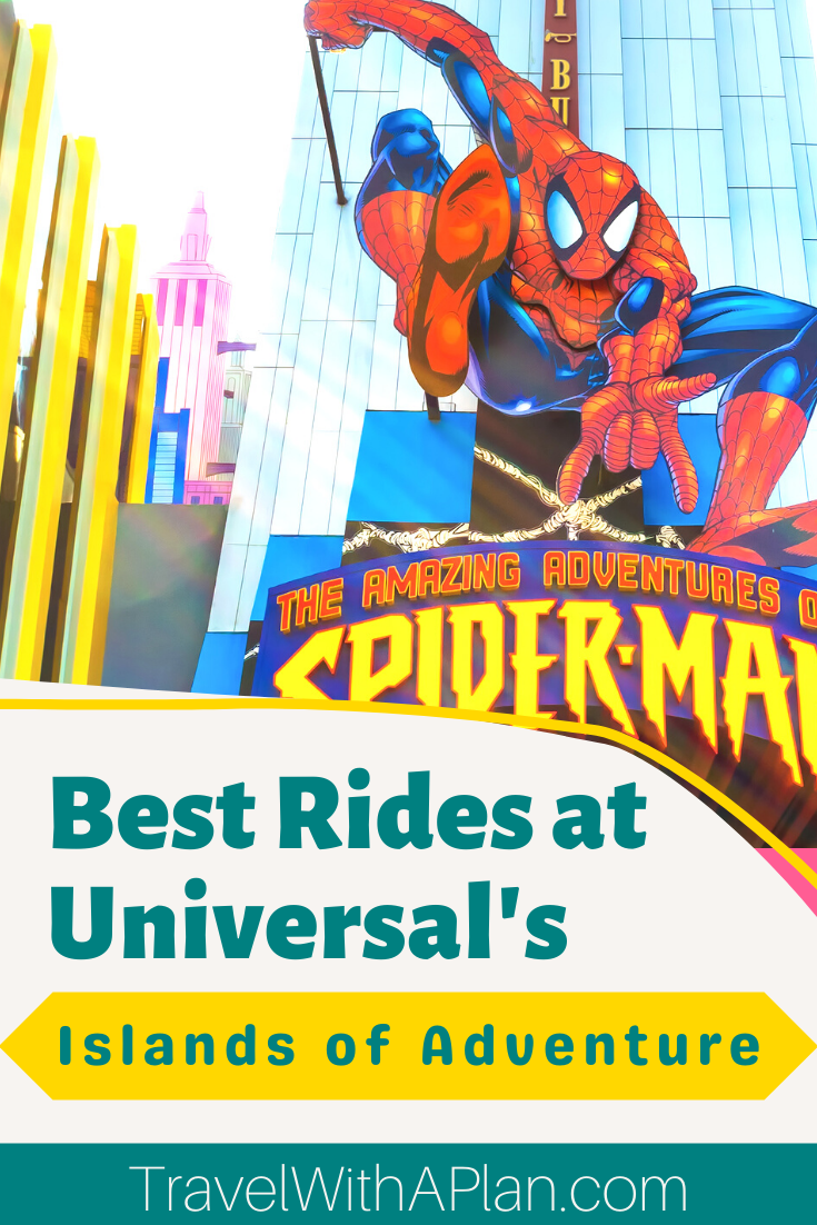 The best rides at Islands of Adventure are featured here by top US family travel blog, Travel With A Plan!