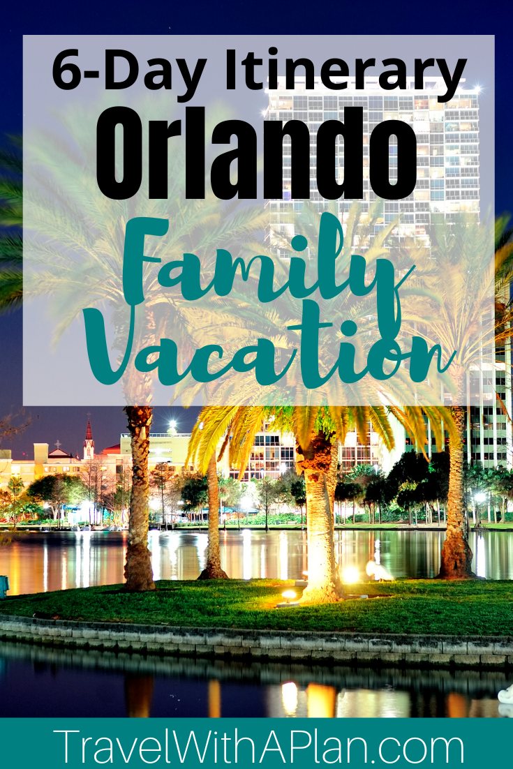 Click here for the perfect Orlando Itinerary for families from Top US Family Travel Blog, Travel With A Plan!  #Orlando #Florida #familytravel