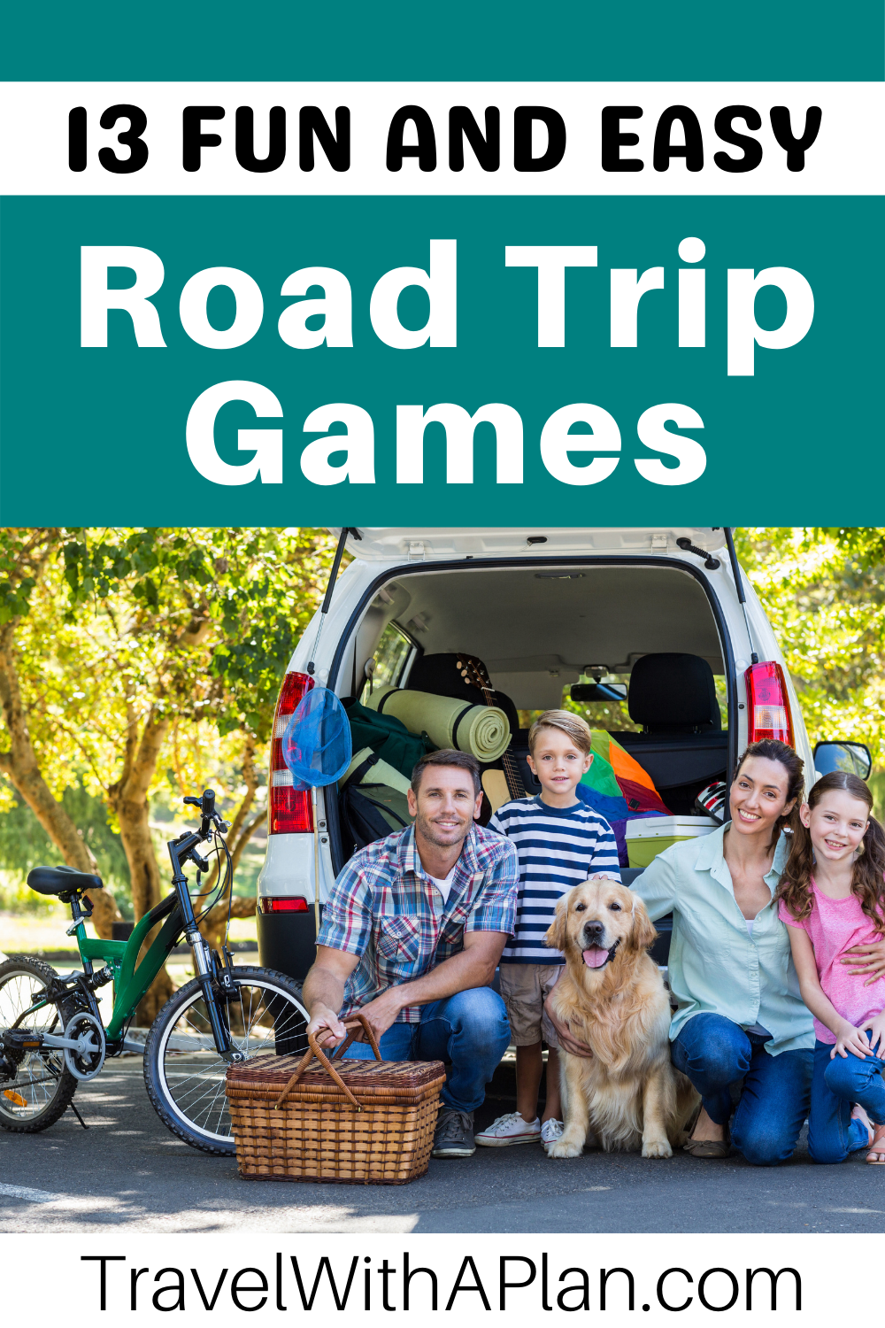 Click here to discover directions for 13 fun and easy road trip word games to play in the car with kids.  From Top US Family Travel Blog, Travel With A Plan!  #roadtriptips #familytravel