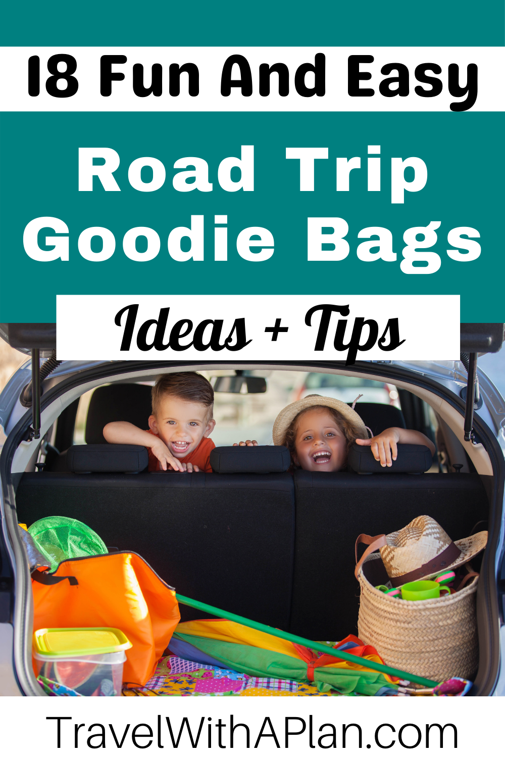 Click here to find out how to make fun and easy Road Trip Goodie Bags for your next family road trip!  Keep the kids surprised!  #familyroadtrip #familiytravel