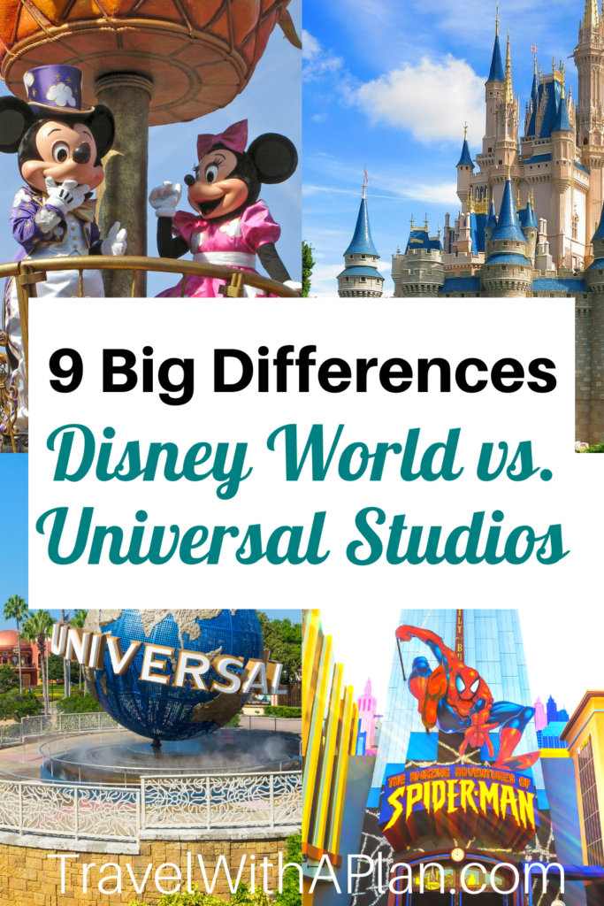 9 Differences between Disney World vs. Universal Studios from Top U.S. Family Travel Blog, Travel With A Plan!