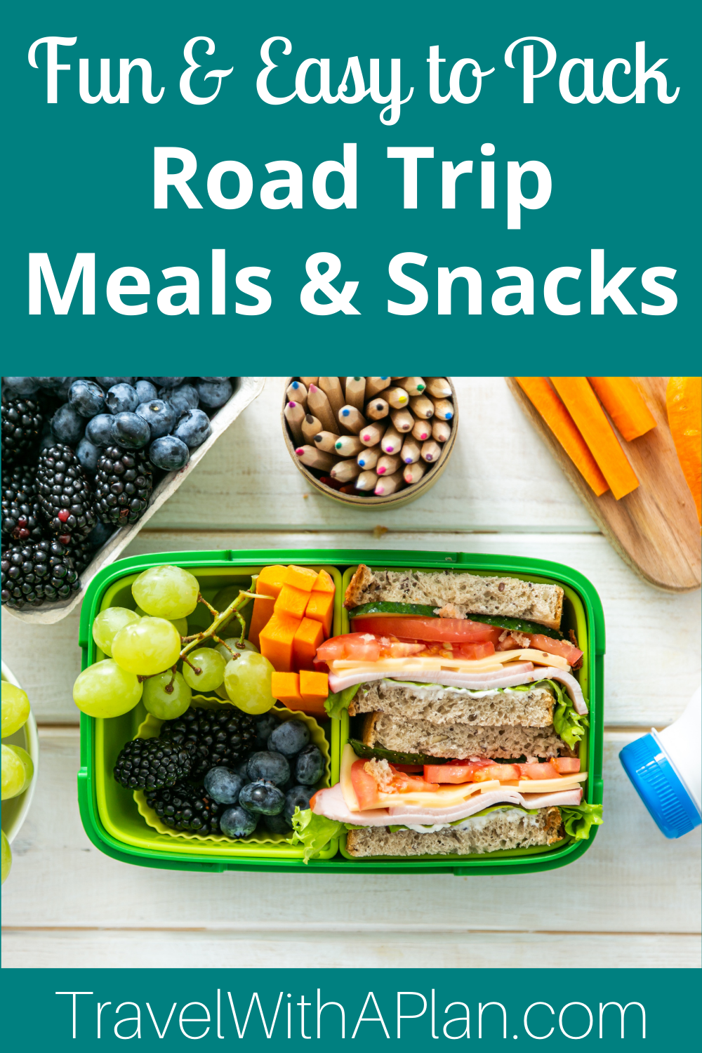 Click here for an epic road trip food list that is perfect for families on-the-go from Top US Family Travel Blog, Travel With A Plan.
