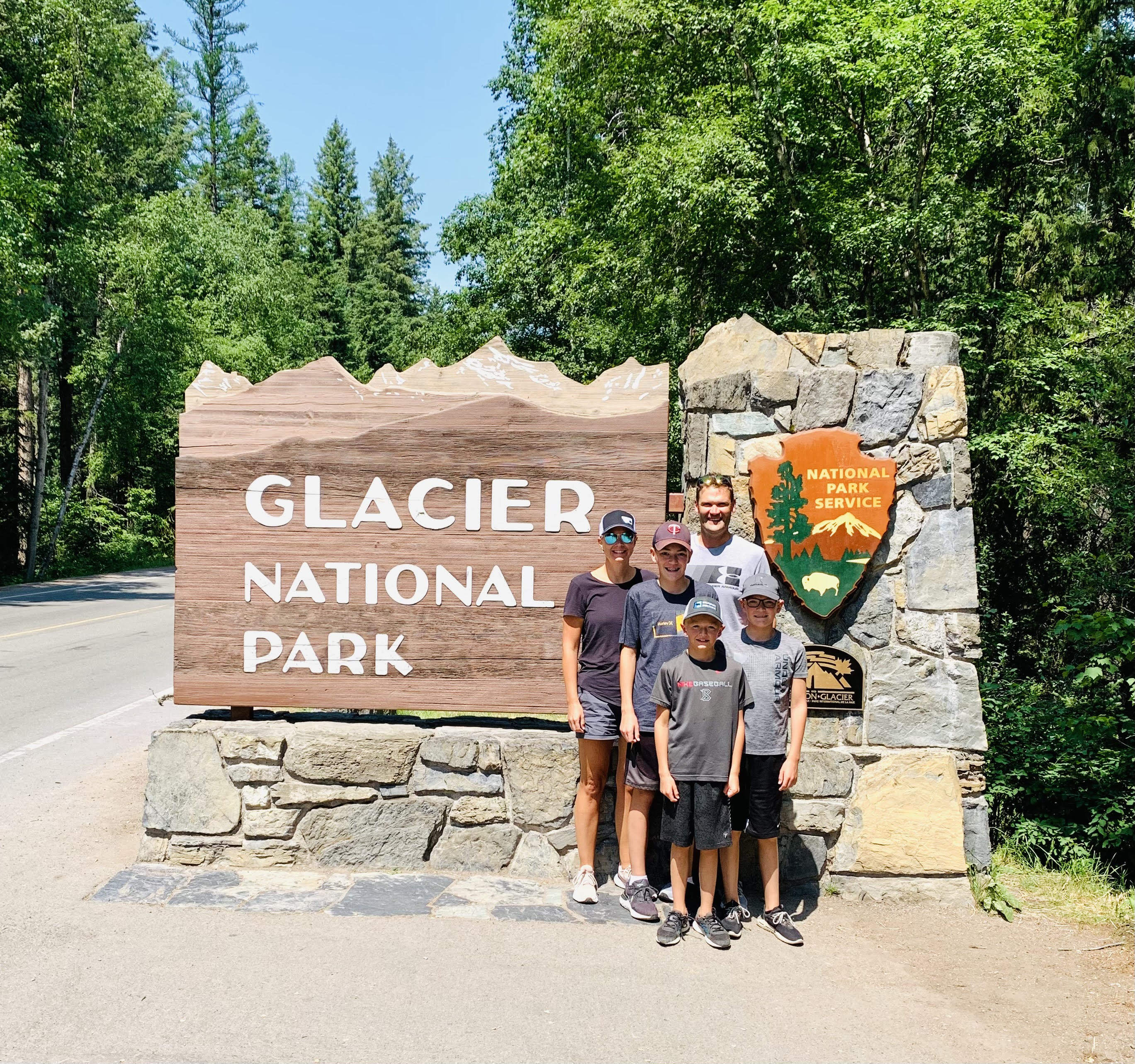 Glacier National Park sign; one of the best stops on Going to the Sun Road