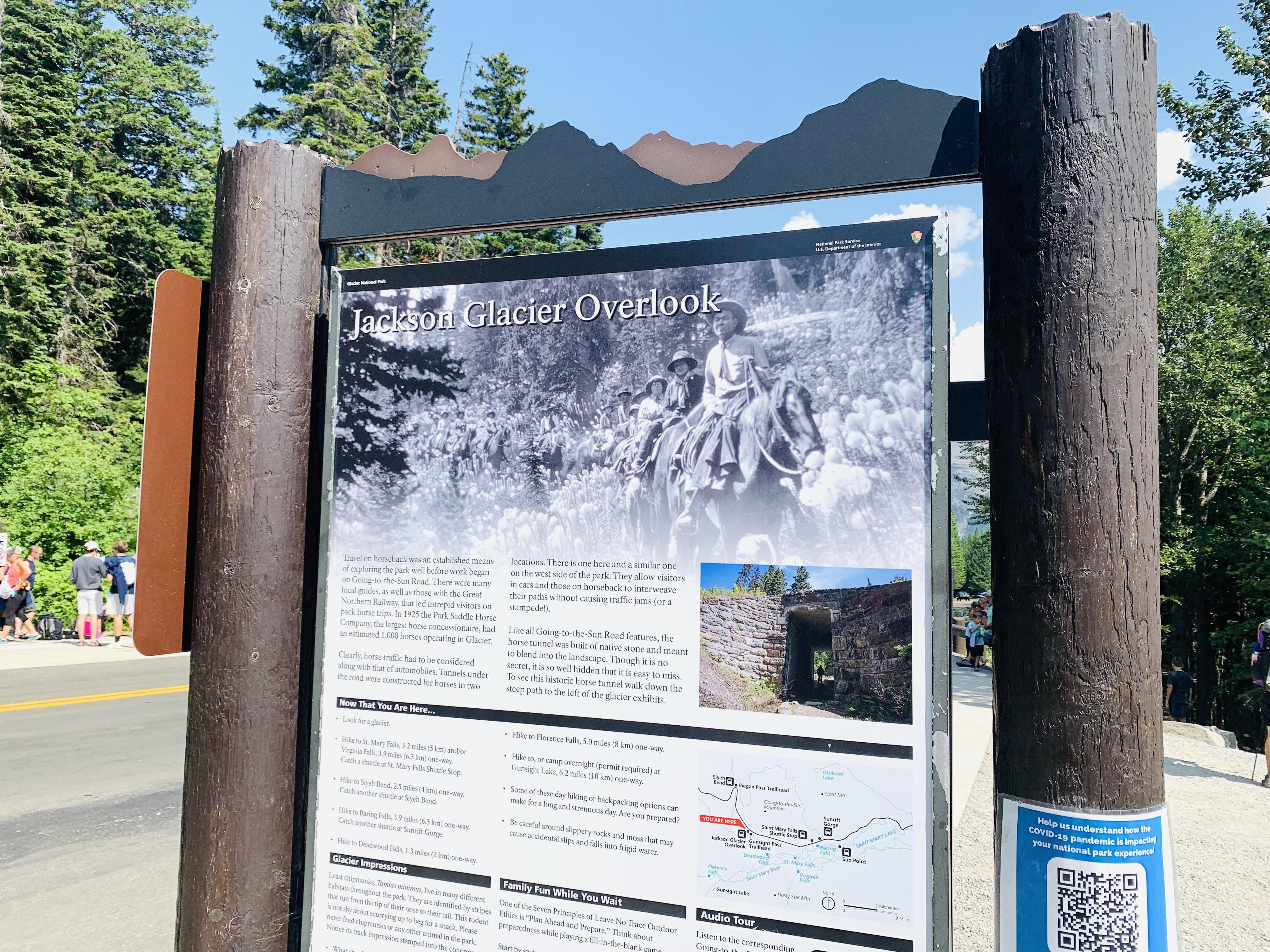 Jaclkson Glacier Overlook sign