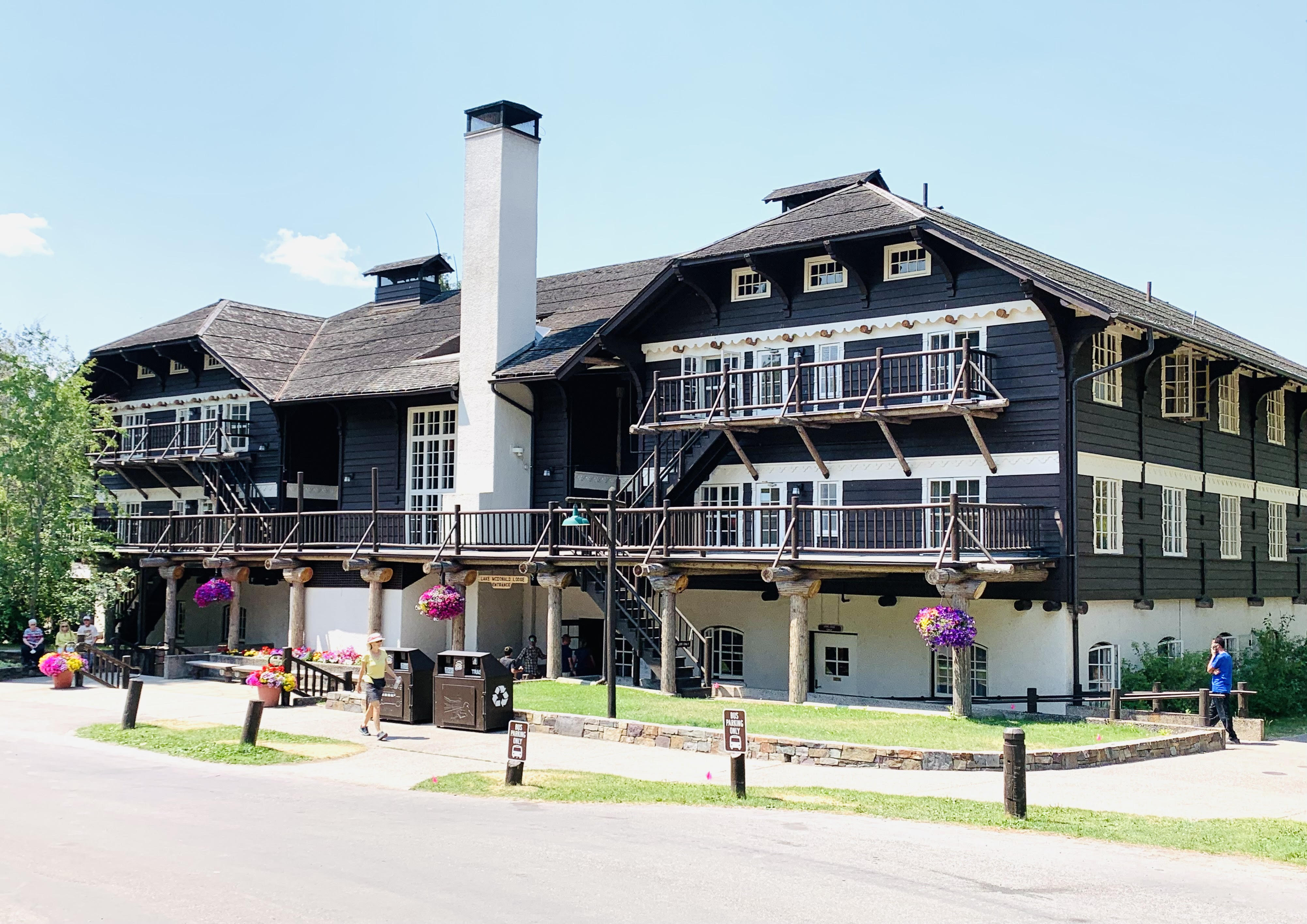 Lake McDonald Lodge; one of the best spots on Going to the Sun Road.