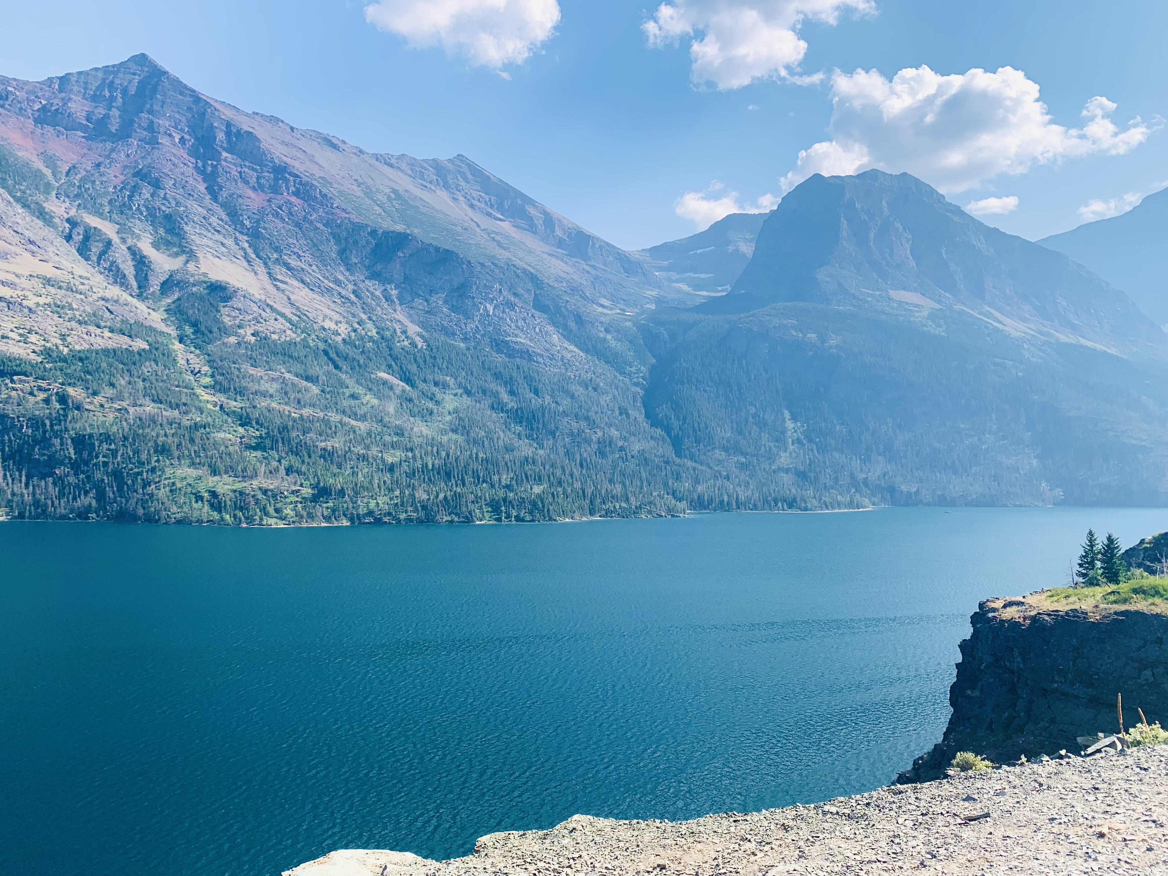 View of St. Mary Lake from Sun Point; one of the best stops on Going to the Sun Road