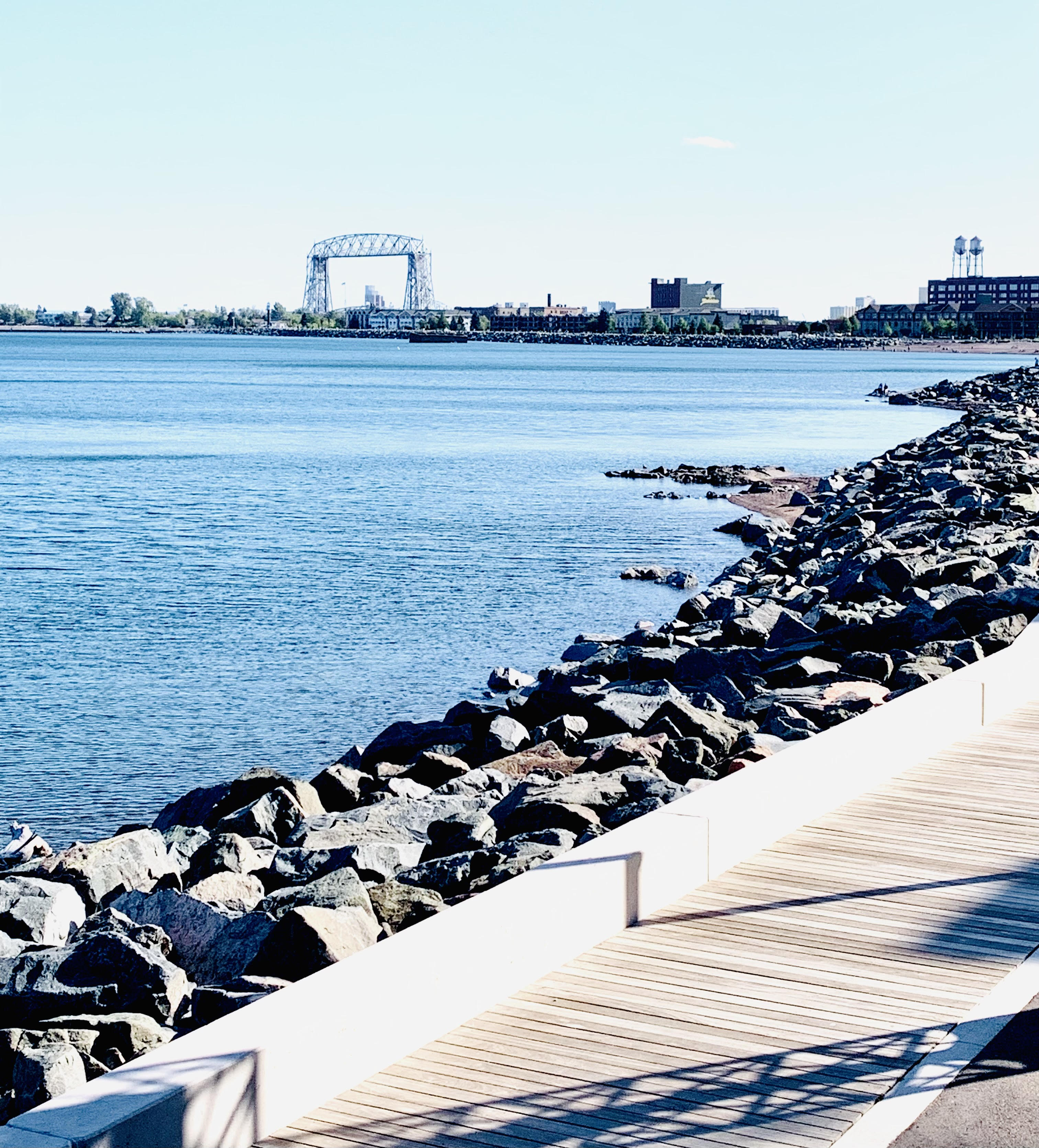 Discover the best Duluth attractions from top U.S. family travel blog, Travel With A Plan:  View of Canal Park