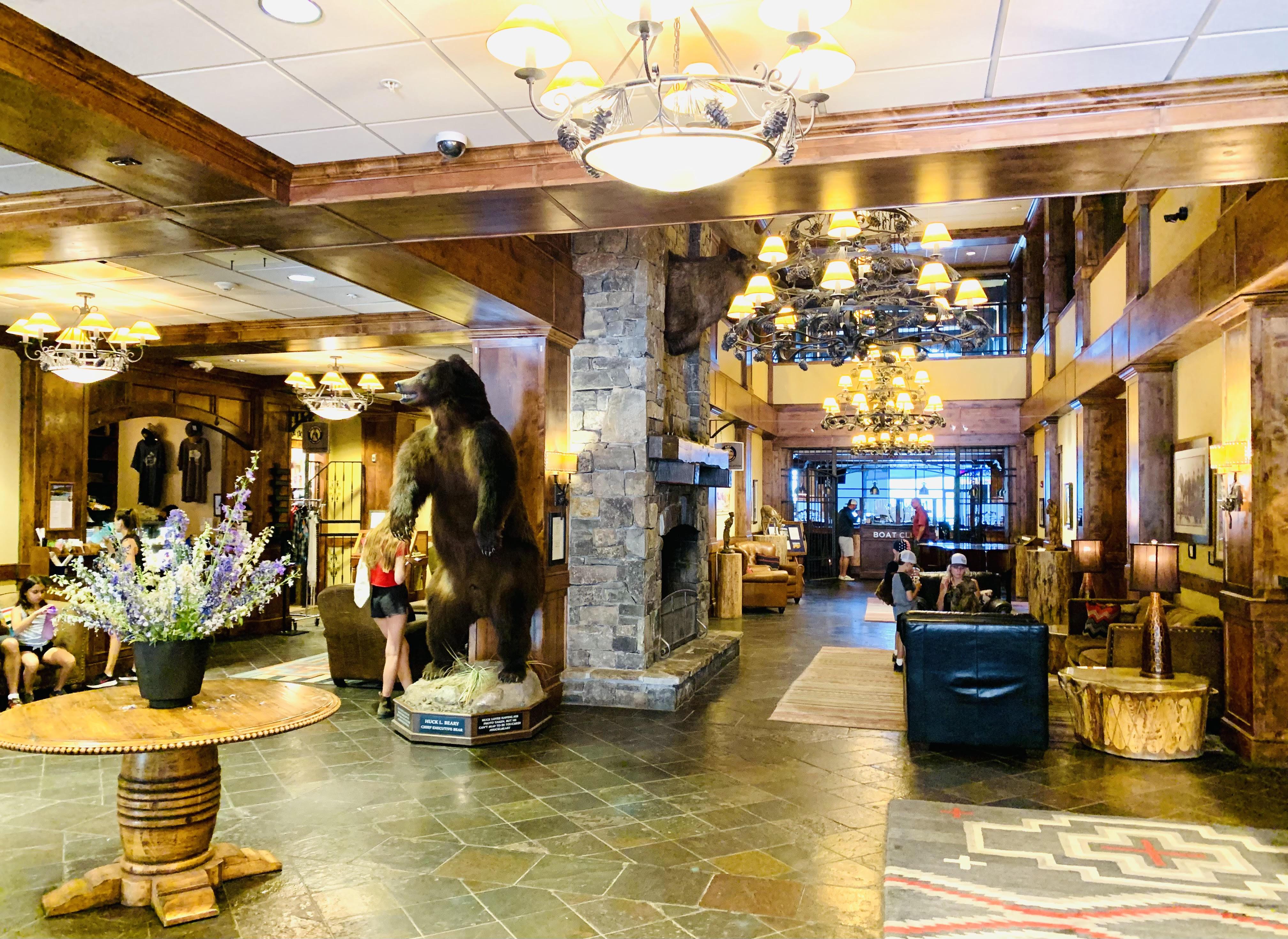 The Lodge at Whitefish Lake lobby