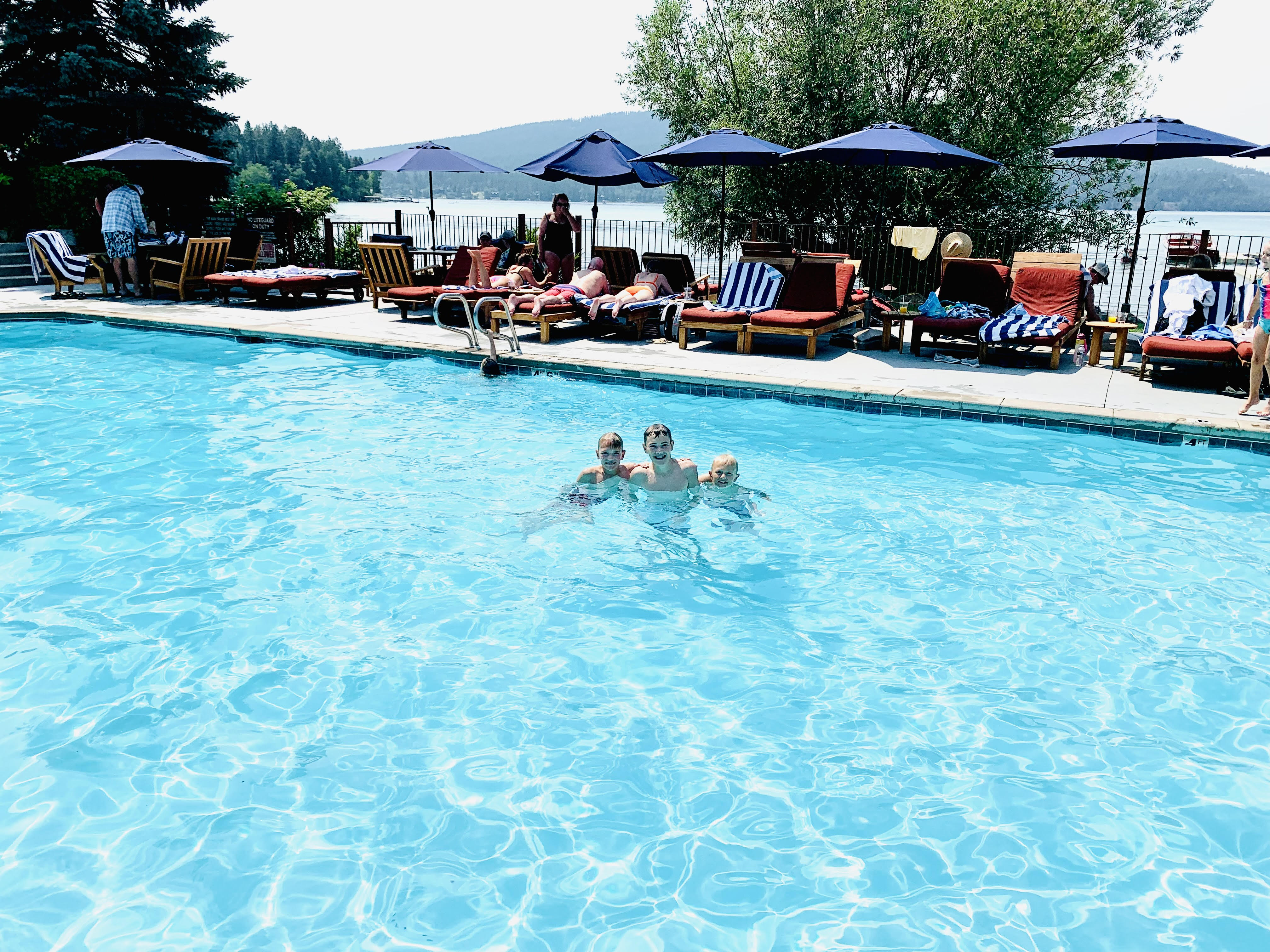 Pool at The Lodge at Whitefish Lake
